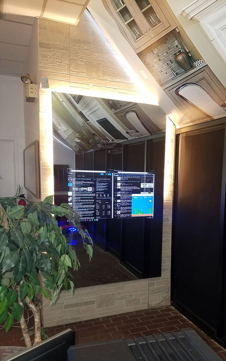 Make your own smart mirror by placingour glass over yourTV, monitor, or tablet. Add a Raspberry Pi or Intel Compute Stick andinstall your favorite smart