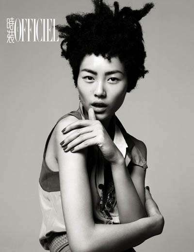 Cropped Dreadlocks - The Liu Wen L'Officiel China Editorial Channels Don King (GALLERY)