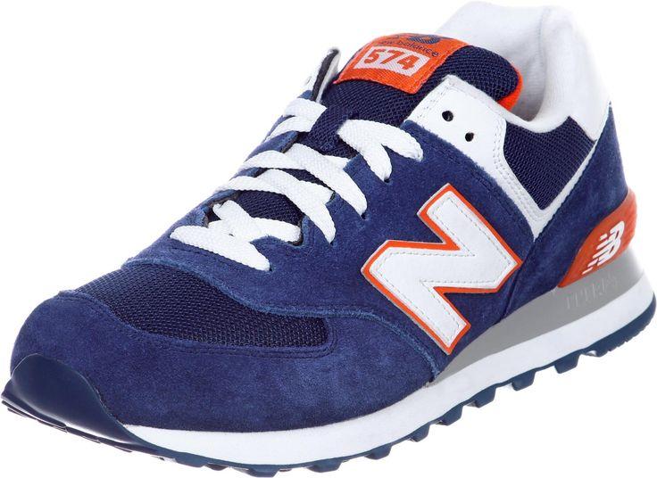 Chaussures New Balance ML574 Pour Homme - coloris: bleu/orange