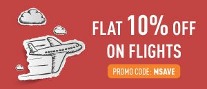 Musafir offer Flat 10% off on domestic flight booking.. We're giving flat 10% off* on domestic flights and Rs 10,000 off* on international flights. Simply book your tickets with the promo co...