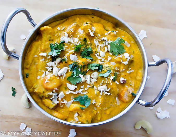 Vegetarian (Vegan) Navratan Korma - A Sweet and Mild Indian Curry