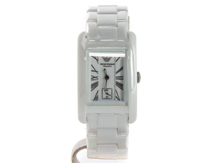 Authentic Emporio Armani White Ceramica ladies watch