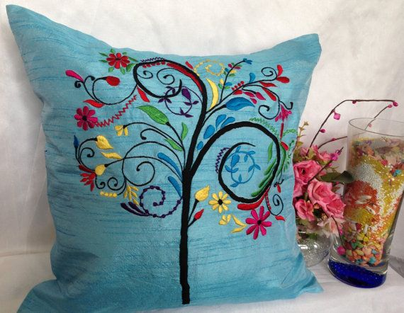 Tree of Life Pillow Cover Decorative Pillow by TheWhitePetalsDecor