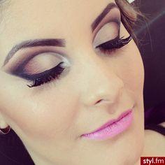 Roze lippen en smokey eyes