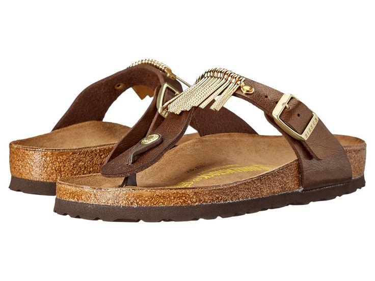 BIRKENSTOCK BIRKENSTOCK - GIZEH FRINGE (GRACEFUL TOFFEE BIRKO-FLORTM) SANDALS. #birkenstock #shoes #