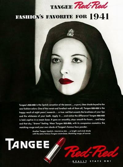 Vintage Tangee lipstick ad