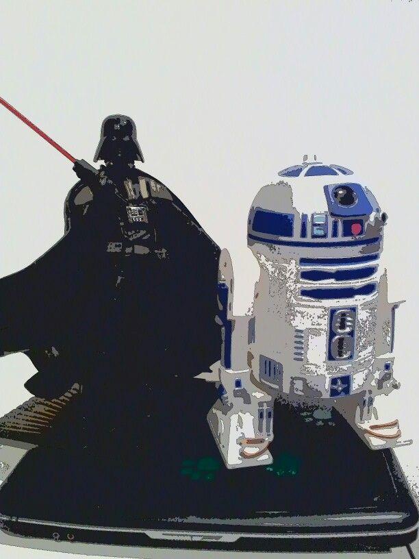 Darth Vader and R2D2
