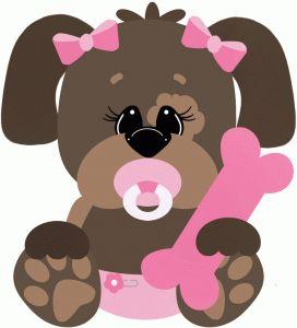 GIRL BABY PUPPY CLIP ART