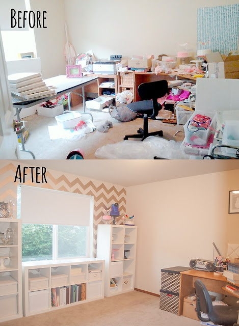 Itsy Belle Craft Room Makeover. From EEK! to Chic!