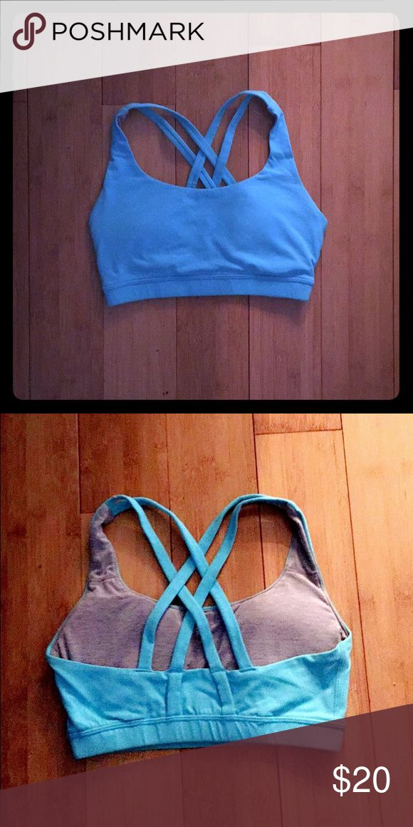 Bright blue sports bra Only worn a few times, great condition, beautiful bright blue color, comes with padding :) this is not Lululemon, but it's a fantastic bra lululemon athletica Intimates & Sleepwear Bras