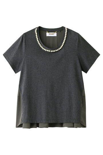 ミュベール【予約販売】パール刺繍Tシャツ