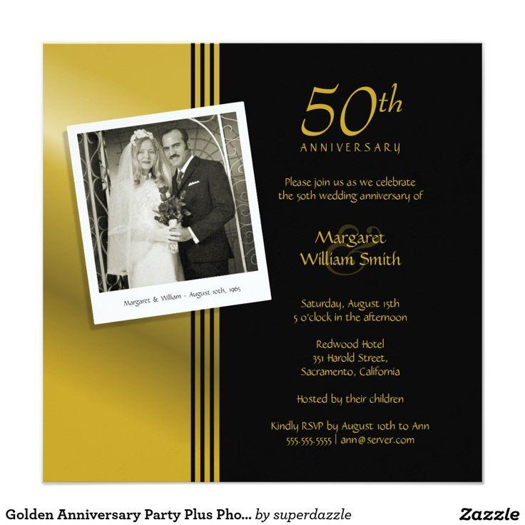 41 best Wedding Anniversary Invitations images on Pinterest ...
