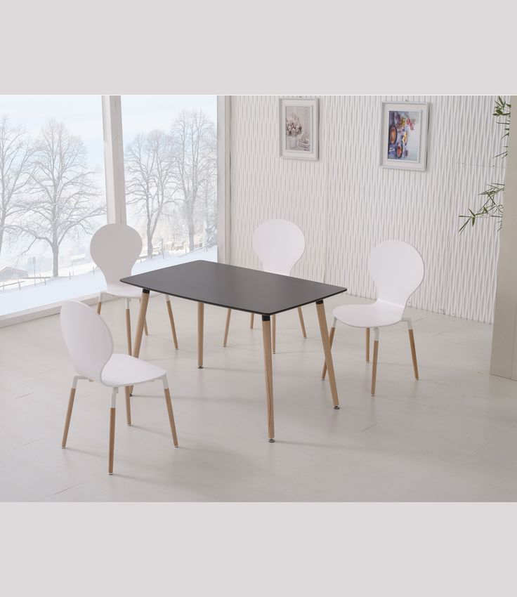 Naples 120 Black & 6 Naples Chairs White Naples Wooden PU Coated Dining Table with Naples Wooden Coated PU Dining Chairs is a stunning set ideal for any dining room and comes in a range of different colours accompanied by beechwood legs.  Learn more  http://www.ebay.co.uk/itm/272252060103