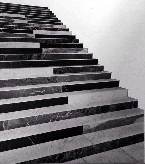 Stairs in the - Hotel Parco dei Principi, Roma 1964, Gio Ponti