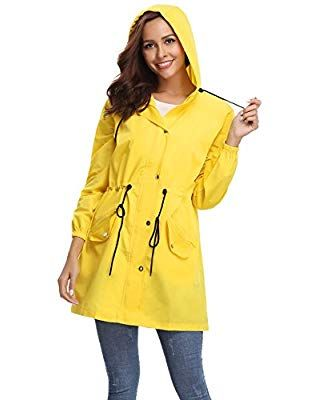 27babef07 Abollria Womens Outdoor Waterproof Lightweight Windbreaker Raincoat ...