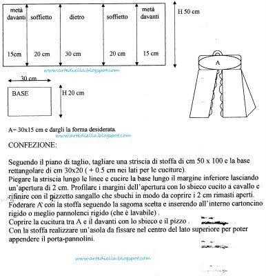 Le Fragole di Stoffa: Porta pannolini celeste con schema e spiegazione.