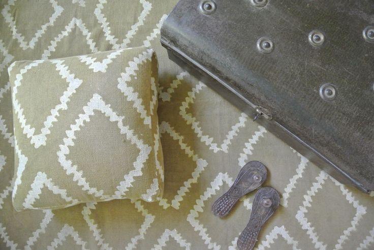 Tapis et coussin de sol en coton dhurri