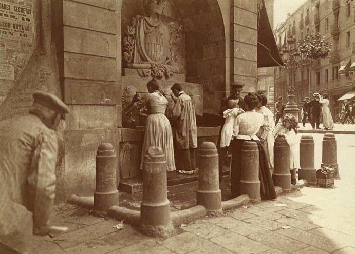 Barcelona (1907-1998), Frederic Ballell: Calle de Portaferrissa.