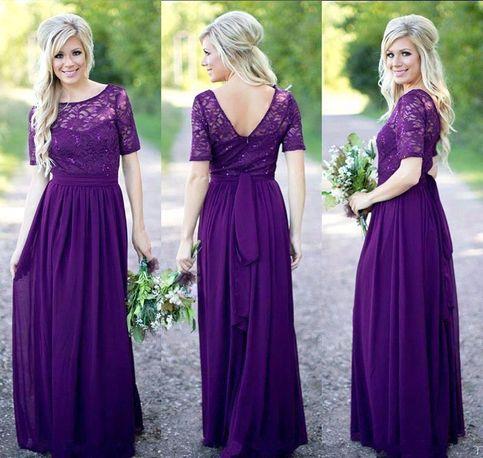 Grape Color Bridesmaid Dresses Cheap