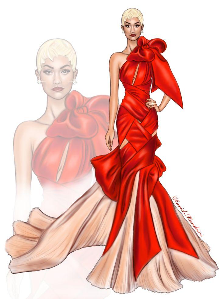 Rita Ora Wearing A Custom Marchesa Gown At #metgala2017