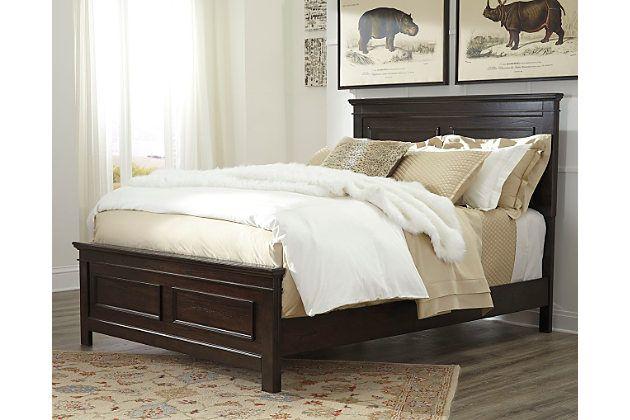Dark Brown Alexee Queen Panel Bed