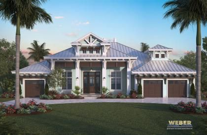 The Harbor House Model by Weber Design Group | Architecture & Planning More Olde Florida Style Home Plans:  https://www.weberdesigngroup.com/home-plans/style/olde-florida-home-plans/