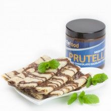 Prutella Mint Chocolate Protein Hazelnut Spread - Think of your favourite light and bubbly mint chocolate bar; add in a whopping 17g of protein with a handful of finely ground real hazelnut pieces, and you'll be in Mint Choc Prutella HEAVEN.