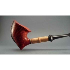 Alexa Pipes AP 16-35 Tomahawk pipe with olive-wood shank