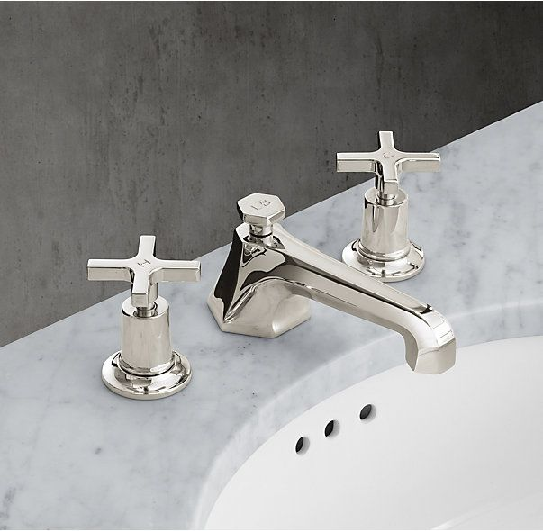 Restoration Hardware Lefroy Brooks 1930 Mackintosh Cross Handle 8 Widespread Faucet