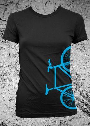 Fixed Gear Bicycle Fixie Bike Shirt Female by iheartanalogue, $21.00
