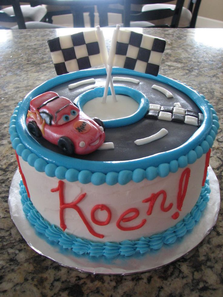 Pin Decadent Designs Lightning Mcqueen Birthday Cake 8 Picture To