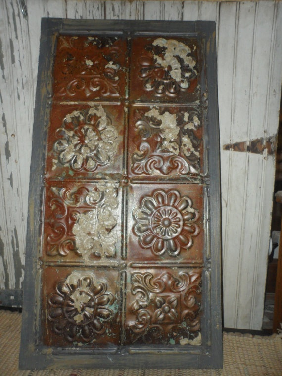 Old Tin Wall Art & 13 best TIN TILES images on Pinterest | Tin ceilings Tin ceiling ...