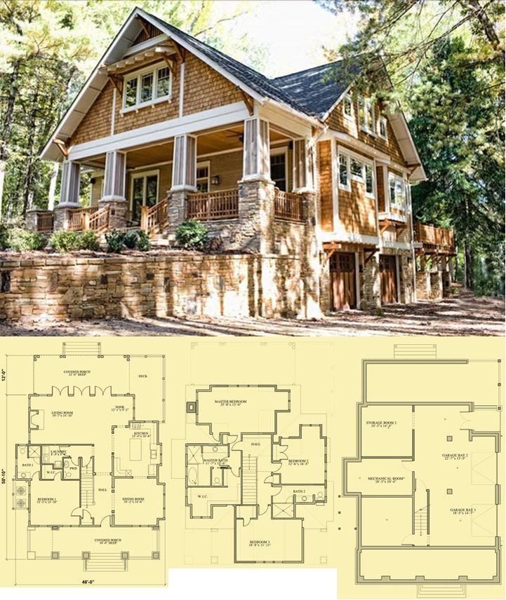 Craftsman Cottage Plans Craftsman Bungalow Home Plans