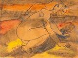 Otto Makila - SEARCHER, 1951, Mixed media