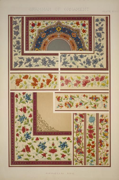Persian Ornament no. 5: From a Persian manuscript, Marlborough House. (1856)