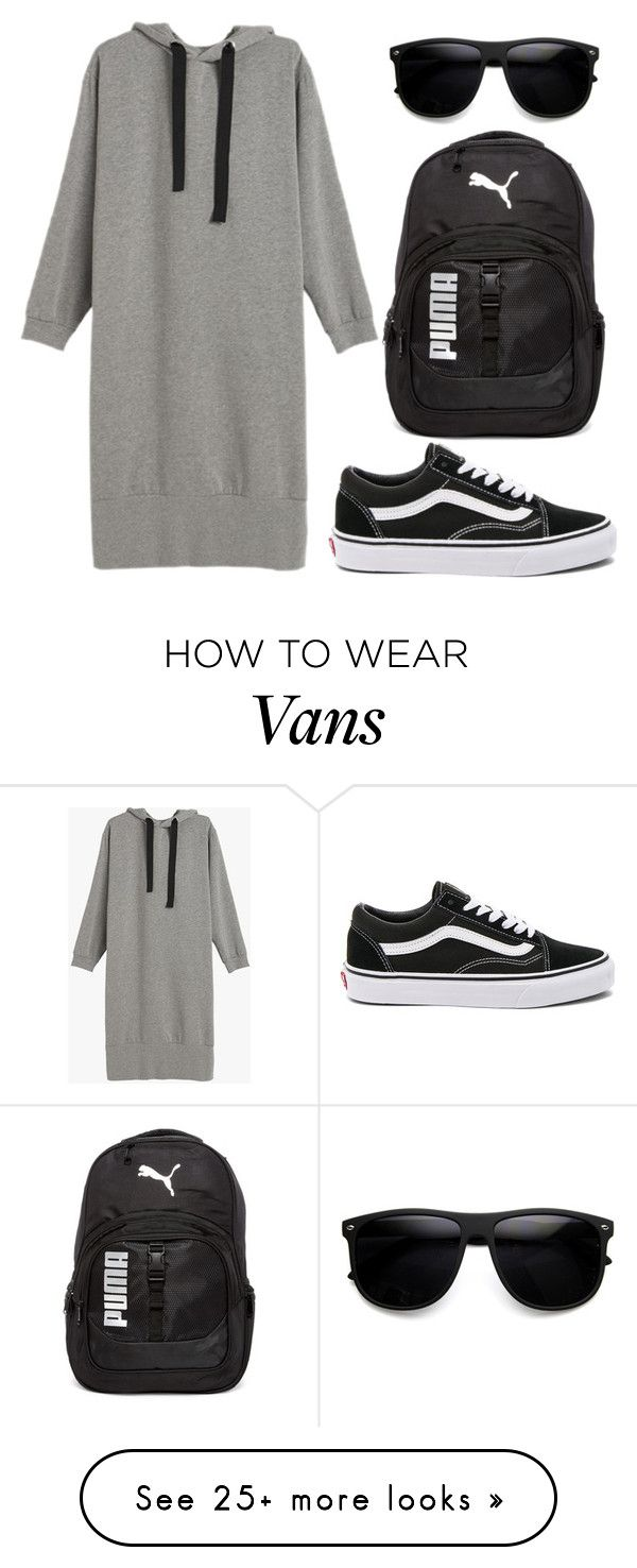 """""""Sporty set 1"""" by dendi-piterskiy on Polyvore featuring Vans, Puma and ZeroUV"""