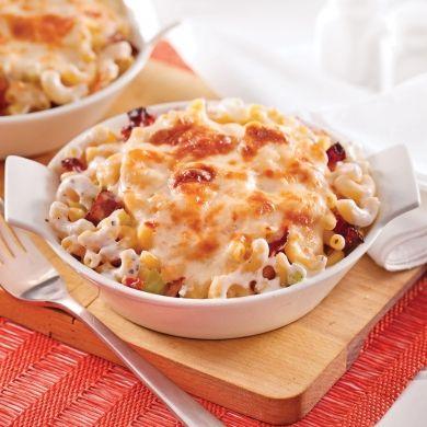 Macaroni au fromage, céleri et bacon - Soupers de semaine - Recettes 5-15 - Recettes express 5/15 - Pratico Pratique