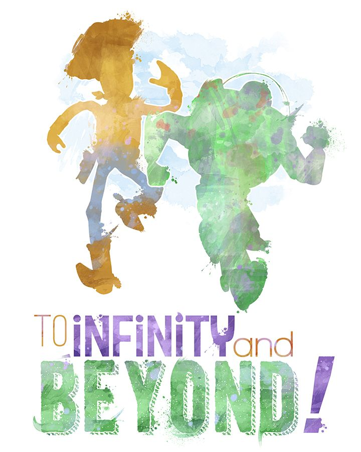 Toy Story to Infinity and Beyond 8x10 Poster - DIGITAL DOWNLOAD / Instant…