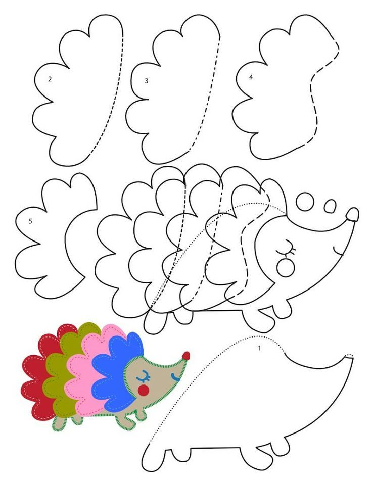 hedgehog craft with template Crafts and Worksheets for