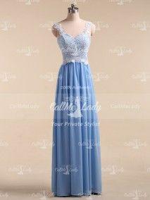 A lovely blue lace dress