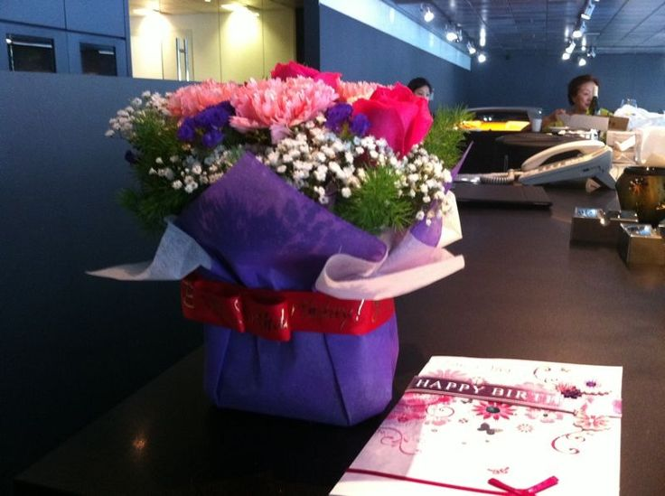 A bouquet of flowers from Lamborghini company