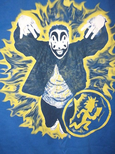 "Violent J ""Yellow tie-dye"" Blue 3XL HatchetGear ICP RARE"