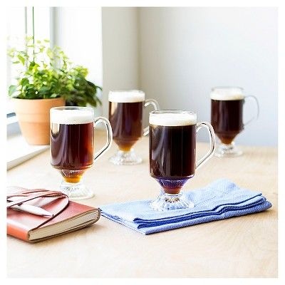 Cathy's Concepts 4pc Irish Coffee Mugs, Clear