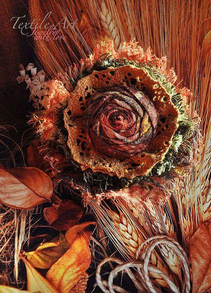 "Брошь ""Happy Life"" - брошь,романтика,роза,кружево,шебби шик,бохо,бохо-стиль"
