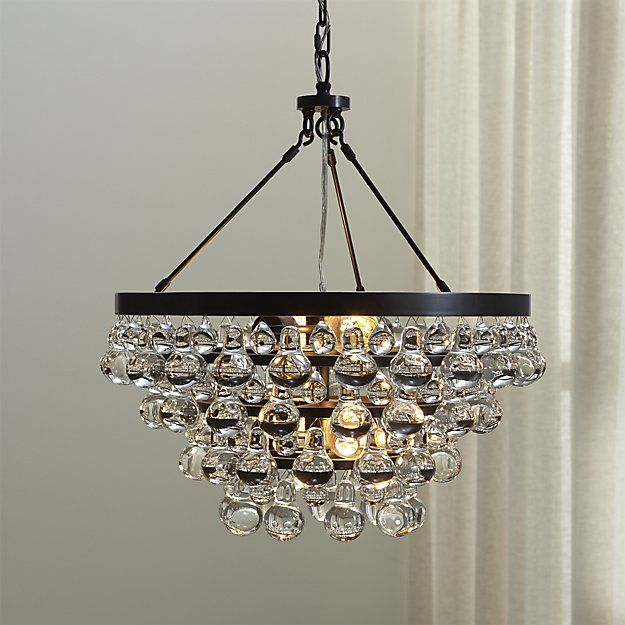 Lure Patina Bronze Chandelier | Crate and Barrel