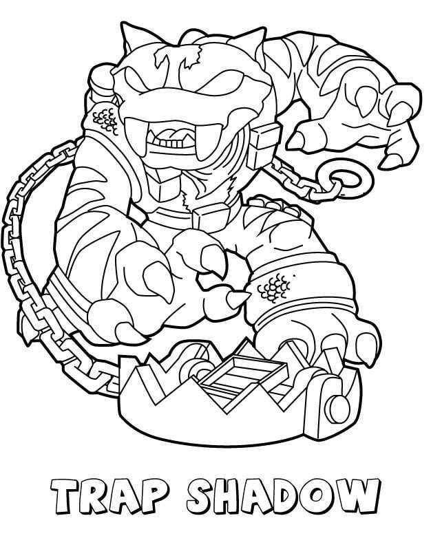 Trap Shadow From Skylanders Coloring Pages In 2020 Coloring Pages To Print Printable Coloring Pages Coloring Pages For Kids