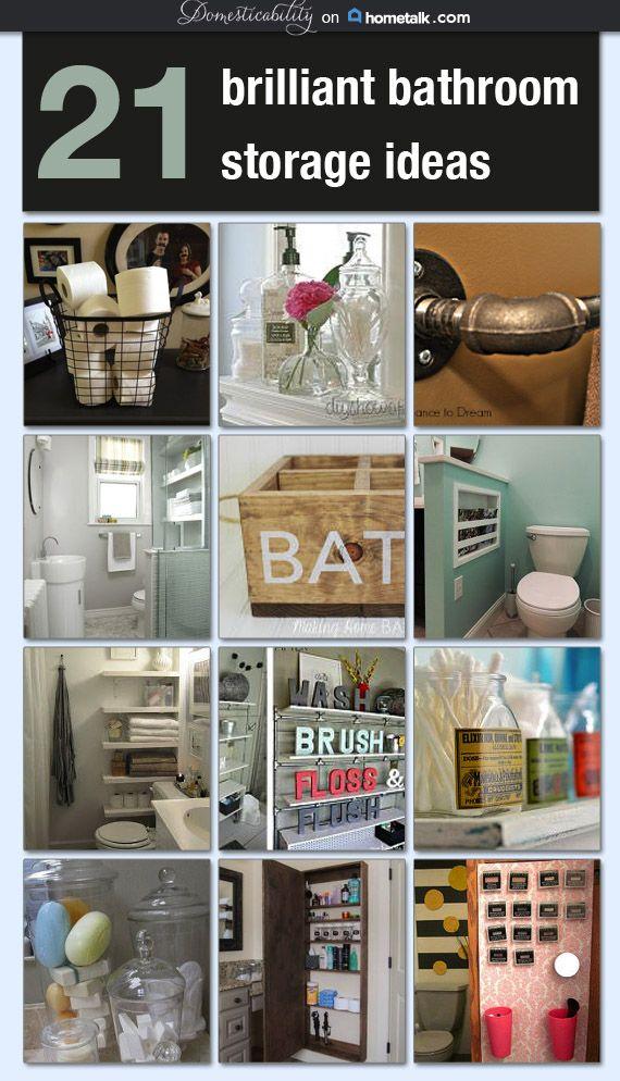 Brilliant Bathroom Storage Ideas : Brilliant bathroom storage ideas idea box by lura