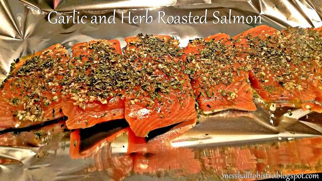 Garlic and Herb Oven Roasted Salmon