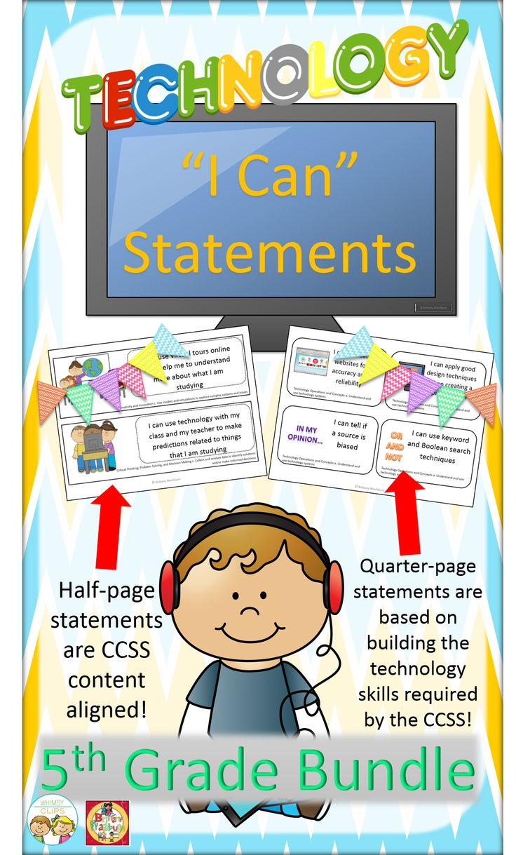 Do you have I Can Statements for the Technology Standards? The Common Core requires so many technology skills. This bundle of I Can Statements for Technology will help your students gain the necessary skills to be successful in the common core classroom. They are based on the ISTE NETS for Students. $