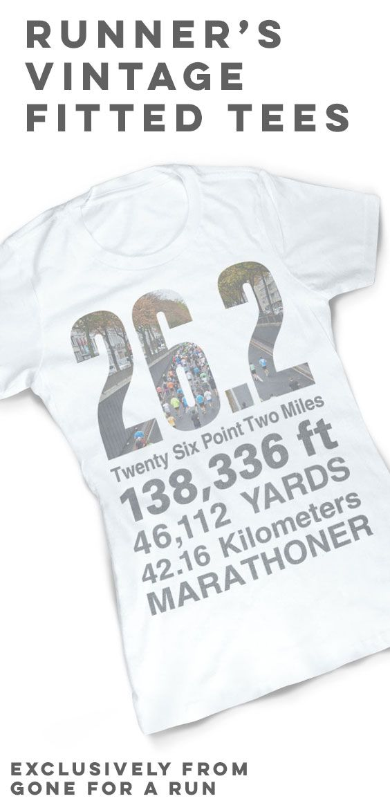 Show off your marathon accomplishment with our Vintage Running Fitted T-Shirt - 26.2 Math Miles, exclusively from Gone For a Run!